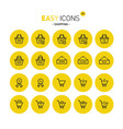 easy icons 32c shopping vector image