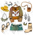 Fashion clothing set vector image