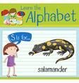 Flashcard letter S is for salamander vector image vector image