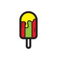 flat color ice cream icon vector image vector image