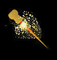 flying rocket powered cork vector image vector image