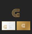 g letter monogram linear gold identity vector image vector image