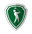 golf player silhouette icon vector image vector image