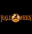 Halloween Pumpkin banner vector image vector image