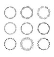 hand drawn set of floral wreaths vector image vector image