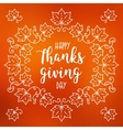 Happy Thanksgiving Day card Autumn blurred vector image vector image