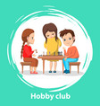 hobclub kids playing chess board games vector image vector image