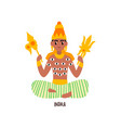 indra indian god on a white vector image vector image