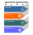 infographic template process in four steps vector image
