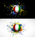 Ivory Coast flag with soccer ball dash on colorful vector image vector image