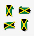 jamaican flag stickers and labels vector image vector image