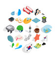 life position icons set isometric style vector image vector image