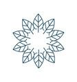 linear organic and natural emblem and logo design vector image vector image