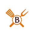 logo restaurant letter b vector image vector image