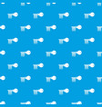 magnetic key pattern seamless blue vector image vector image