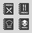 menu icons on grey background vector image