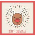 merry christmas cute reindeer celebration image vector image