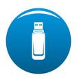 mini flash drive icon blue vector image vector image