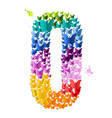 number 0 of butterfly vector image vector image