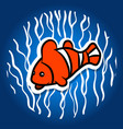orange parrot fish vector image