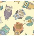 OwlsRotatePattern vector image vector image
