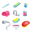 Personal hygiene items vector image