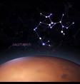 planet zodiac sagittarius vector image vector image