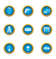 reconditioning icons set flat style vector image vector image