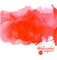 red watercolor background for textures and vector image vector image