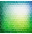 Retro mosaic pattern of geometric triangle shapes vector image vector image