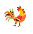 rooster farm bird vector image