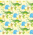 seamless animal pattern wildlife reptile vector image