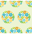 seamless pattern with flowers in the circle vector image vector image