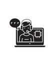 service specialist black concept icon vector image vector image