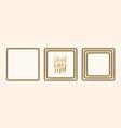 set golden square frames vector image vector image