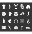 Set of icons or symbols of football vector image