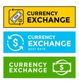 Signboard currency exchange vector image