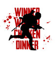 silhouette of a running soldier in uniform vector image vector image