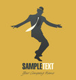 silhouettes dancing jazz or swing-01 vector image