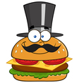 Smiling Burger Cartoon vector image vector image