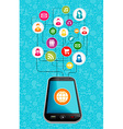 Social media network mobile diagram vector image