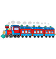 steam locomotive with wagons vector image