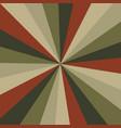 sunburst background pattern with a vintage vector image vector image