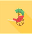 traditional chinese rickshaw vector image