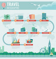 travel infographic infographics for business web vector image vector image
