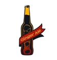 vintage craft beer vector image vector image