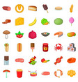 watermelon icons set cartoon style vector image vector image