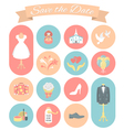 Wedding Icons Round Set 2 vector image