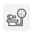 weighing pork icon vector image vector image