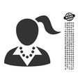 woman icon with work bonus vector image vector image